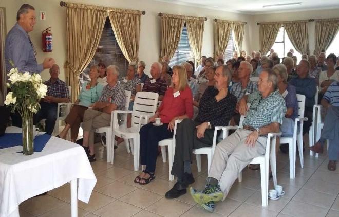 Bill Reynard talks to U3A West Rand members